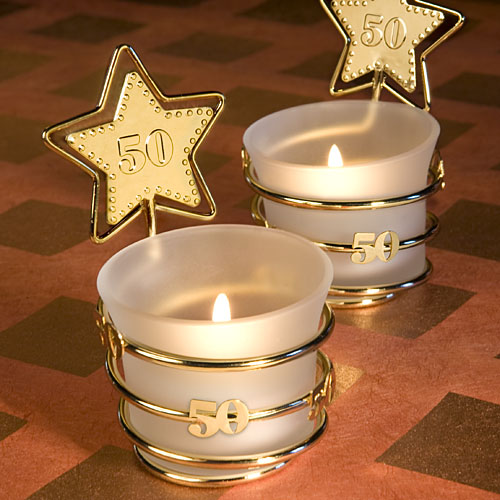 Golden Anniversary Party Favor Candle Favors For 50th Anniversary