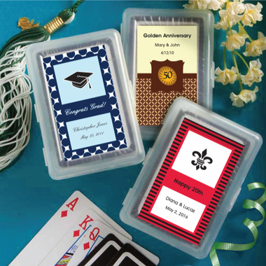 Graduation Playing Cards - Personalized Labels
