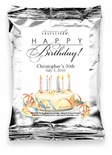 Happy Birthday-Cake with Ribbon Personalized Coffee Favors