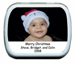 Holiday Photo Mint Tin Favors