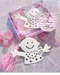 Hug Me Baby Bookmark Favors - Pink or Blue