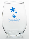 Ice Skating Party Favors Trinket Glass
