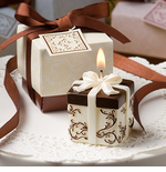 Ivory Favors Candle