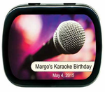 Karaoke Party Favors Rock Star Mint Tins
