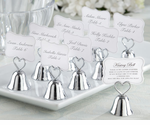 Kissing Wedding Bells Place Card Holders Set of 24