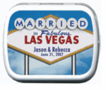 Las Vegas Wedding Favor Mint Tins