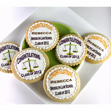 Law Cookies Favors for Graduation Party - Set of 6