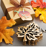 Leaf Thanksgiving Table Favors Box