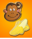 Monkey Cookies - Monkey Theme Party Favors