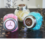 Monogram Candy Jars Favors