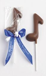 Music Note Favors - Milk Chocolate Lollipop