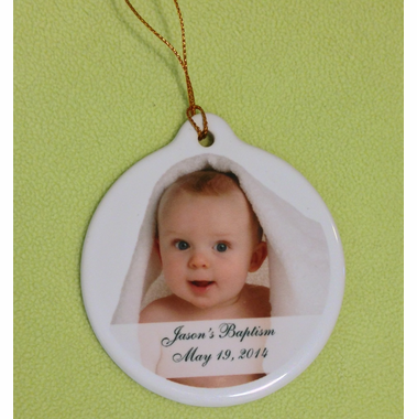 Ornament Christening Favors