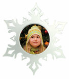 Ornament Frames Christmas Snowflake