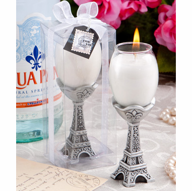 Paris Prom Theme Candle Favors