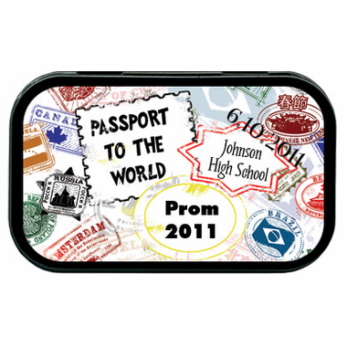 Passport Party Favors Mint Tins