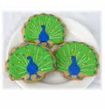 Peacock Cookies Favors