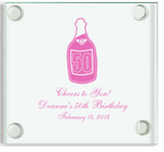 Personalized 50th Birthday Favors Coaster