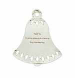 Personalized Bell Ornament - Silver or Gold