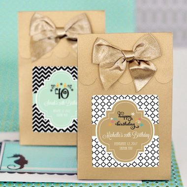 Personalized Birthday Favor Boxes - Set of 12