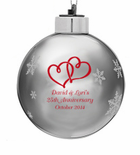 Personalized Ornament Wedding Favors for Christmas