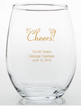 Personalized Glasses 50th Birthday