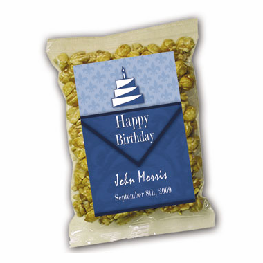 Personalized Label Birthday Caramel Corn