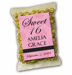 Personalized Label Sweet 16 Caramel Corn