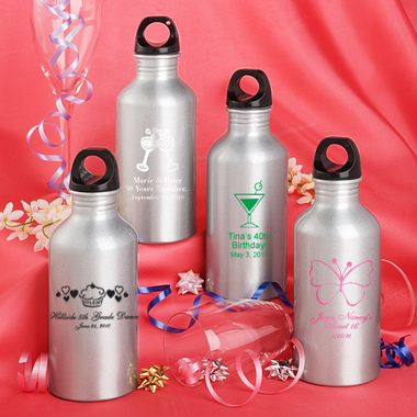 Personalized Metal Water Bottles Birthday Favors