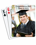 Personalized Photo Graduation Playing Cards