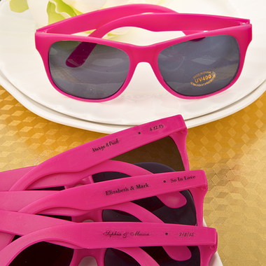 Personalized Pink Sunglasses