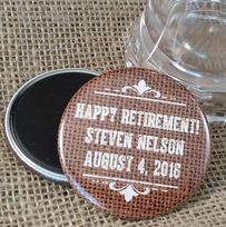 Personalized Retirement Magnets or Mirrors