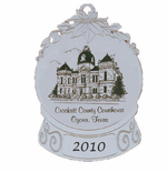 Personalized Silver Ornaments -  Snow Globe