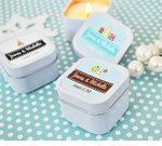 Personalized Square Holiday Candle Tins