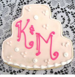 Personalized Wedding Cake Cookie Favors