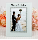 Personalized White Glass Frame