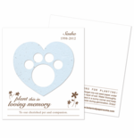 Pet Memorial Cards Dog and Cat