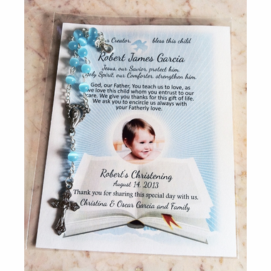 Photo Baptism Remembrance Cards