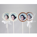 Photo Birthday Favors Chocolate Lollipop