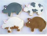 Pig Party Favors Cookies