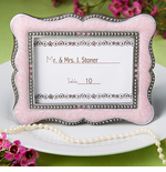 Pink Place Cards Photo Frames