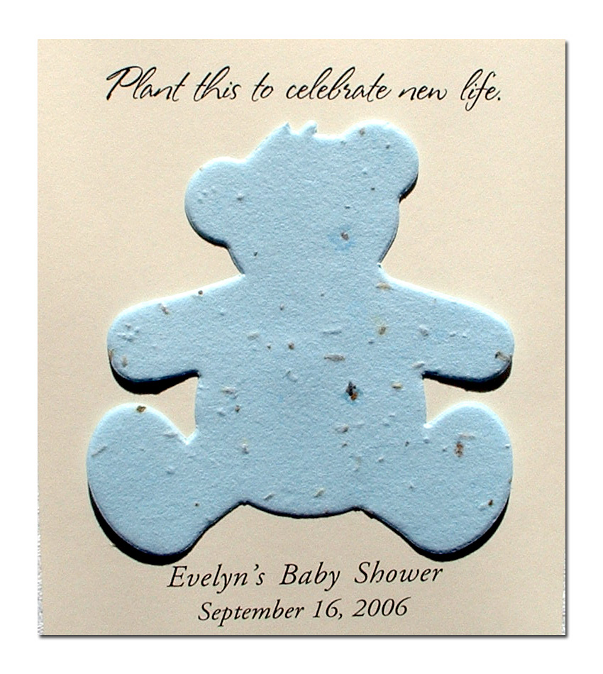 baby shower favors green baby shower plantable teddy bear baby shower