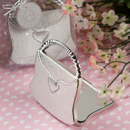 100 Cheap Wedding Favour Ideas For Under 1 Each: Purse Mirror Compact Favors