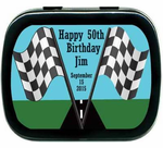 Race Car Party Supplies Mint Tin Favors