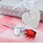 Red Rose Favors Crystal Glass