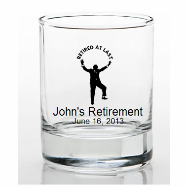 Retirement Favors Personalized Shot Glasses