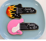 Rockstar Favors Electric Guitar Cookies