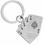 Royal Flush Poker Keychain