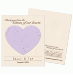 Seed Paper Hearts Favors