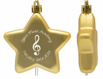 Shatterproof Ornaments Custom Stars