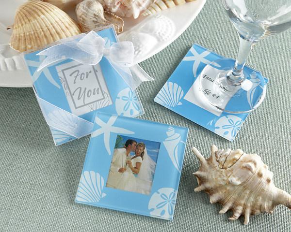 Shower Favors Beach Theme Photo Coasters